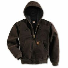 Carhartt J130 Flannel Lined Sandstone Active Jacket - Dark Brown XL