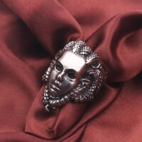 Herren Totenkopf Ring - Medusa Skull Schlangen - Biker Rocker Punk Gothic