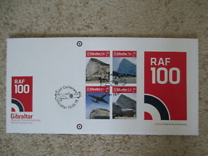 GIBRALTAR - 2018 ROYAL AIR FORCE CENTENARY MIN SHEETFIRST DAY COVER