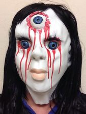 Creepy Bloody Horror China Doll Halloween Mask Latex Full Head Costume Blue Eyes