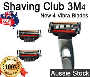 Gillette Mach3 Compatible Blades Metal Handle + 2 4 - Blade Cartridges Shaver