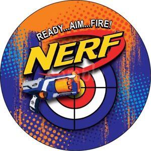 Nerf N-Strike Gewehr Eßbar Muffin Torten-Bild-Aufleger Party Deko Geburtstag Neu