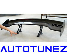 "UNIVERSAL 57"" Carbon Fiber Black 3D GT Wing Spoiler Drift Type F Down Force G AT"
