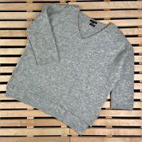 Womens Jumper Sweater Massimo Dutti Wool Alpaca Size M V Neck