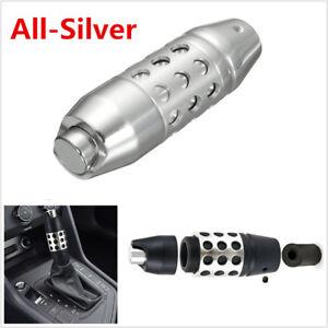 Silver Alloy Aluminum Automatic Car Gear Shift Shifter Lever Knob+Adapter