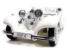 1936 MERCEDES 500 K SPECIAL ROADSTER WHITE 1:18 DIECAST MODEL CAR MAISTO 36055