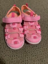 Carters Girls Water Sandals Size 10 Pink With Mesh Detail Cute!