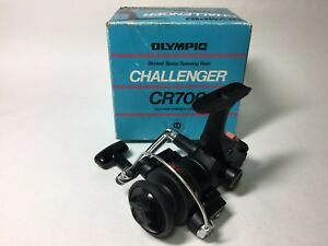 OLYMPIC CHALLENGER CR700 Vintage Skirted Spool Spinning Reels