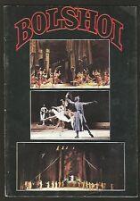 Argentina Programme Luna Park Stadium Bolshoi Moscow Ballet 1986