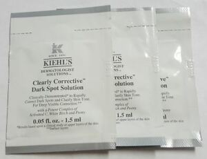(3) Kiehl's Clearly Corrective Dark Spot Solution packet .05oz ea*3