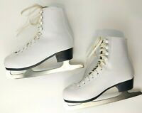 Womens 7 Tricot Lined Ice Figure Skates American Athletic 522 White Worn Once
