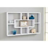 Stylish And Attractive Space Saving Multi-Compartment Wall Shelf Storage - White