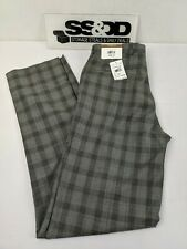 NWT Rendezvous by BALLIN Flat Front Dress Pants Mens Size 34 unfinished hem $165