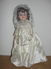 "Vintage Unmarked 11.5"" Bride Doll - Open Close Eyes"