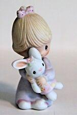 Precious Moments Jesus Loves Me Girl with Bunny Figurine E-9279 1982