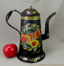 Harvey Filley Pennsylvania Decorated Tinware Coffeepot c. 1830s