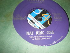 Nat King Cole 45 Illusion CAPITOL