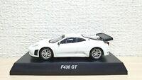 Kyosho 1/64 FERRARI F430 GT WHITE diecast car model **READ