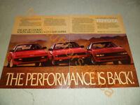 1985 TOYOTA MR2 COROLLA GT-S & SUPRA AD / ARTICLE