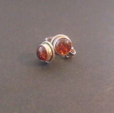 BOUCLE OREILLE ARGENT NATURELLE CORNALINE NATURAL CARNELIAN STONE EARRING SILVER