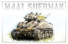 M4A1 SHERMAN TANK -  Poster