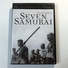 Seven Samurai Dvd Criterion Collection 1954 Original Japanese w/opt Eng Subs