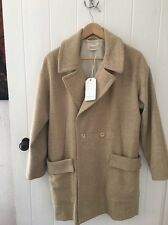 ++ TOAST ++ Divine 'Liska' Pea Coat Camel 100% Wool Size 10 / M Mint Condition