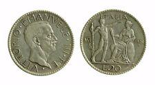 168) Regno Vittorio Emanuele III (1900-1943)  20 Lire 1928 Littore