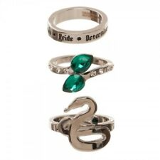 Slytherin Harry Potter 3 Ring Set Officially Licensed Size 6-7-8