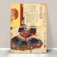 "Vintage Japanese SAMURAI Warrior Art CANVAS PRINT 36x24""~ Kuniyoshi  #164"