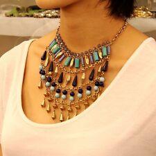 Necklace Multirank Tassel Turquoise Black Modern Original Marriage Gift JCR 4