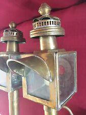 Paire de lanterne de Fiacre en cuivre