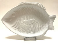 Cerutil Stoneware Fish Serving Plate Platter Tray Oven To Table White Portugal