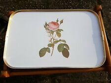 Large Tray with Rose Print - Trolley Tray?