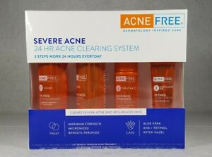 Acne Free Severe Acne 24hr Clearing System 4pc Kit EXP 08/2021 - Free Shipping!