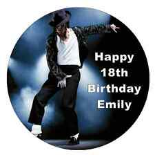 """Michael Jackson Personalised Cake Topper 7.5"""" Edible Wafer Paper"""