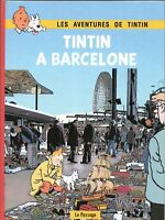 PASTICHE. Tintin à Barcelone. Album cartonné 44 pages N & B . HORS COMMERCE