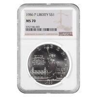 1986 P Liberty $1 Silver Dollar Commemorative NGC MS 70