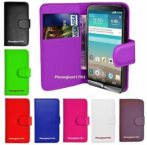 Book Wallet Flip Leather Stand Card Case Cover For Various LG Mobile Phones