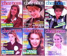 (Z2)Lot de 6 CHEZ NOUS années 80; Mode,Santé, Cuisine, Beauté, Forme, Jardinage