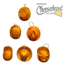 Cheesehead Hat Assorted Ornaments Set (6-pk)