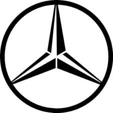 Mercedes Benz  logo / badge car vinyl decal sticker 100 mm x 100 mm x2