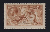 Great Britain Sc #173d (1915) 2/6d yellow brown Seahorse Mint VF H