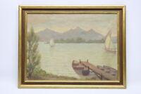 Antikes Gemälde Chiemsee Kurt Stammer Öl/ Leinwand