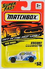 Matchbox MB 52 Escort Cosworth Gold Wheels New On Card 1994