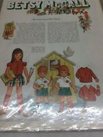 1970 VINTAGE BETSY MCCALL TWINS GO TO PLAY SCHOOL  PAPER DOLLS UNCUT UNUSED