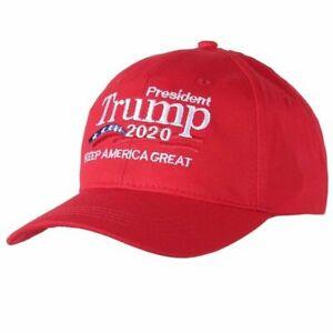 Donald Trump 2020 MAGA Embroidery Hat Keep America Great Again Baseball Red Cap
