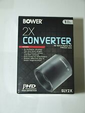 New BOWER 2x Tele-Converter For Digital & FILM T2 and T-Mount Lenses with CASE