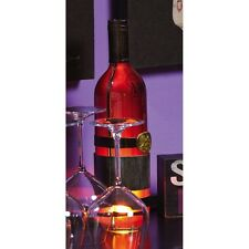 Metal and Glass Wine Bottle Lamp, Evr-8L021