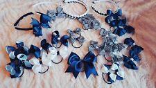 Navy & White School Hair Bow Clips Alice band bobbles set 25 piece set boutique
